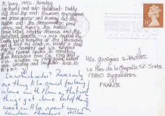 James Jennifer Georgina – Postcard stamped on Monday, June 8, 1992