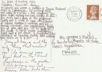 James Jennifer Georgina – Postcard stamped on Tuesday, June 16, 1992