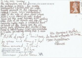 James Jennifer Georgina – Postcard stamped on Sunday, July 5, 1992