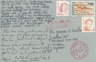 James Jennifer Georgina – Postcard stamped on Wednesday, February 24, 1993
