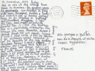 James Jennifer Georgina – Postcard stamped on Friday, November 19, 1993