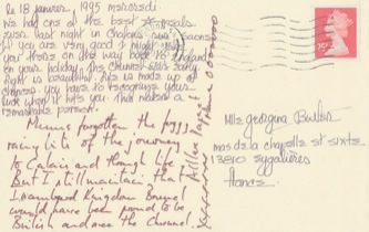 James Jennifer Georgina – Postcard stamped on Wednesday, January 18, 1995