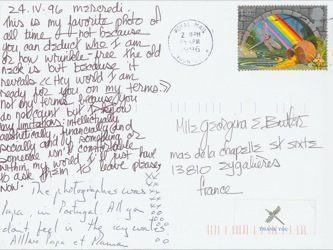James Jennifer Georgina – Postcard stamped on Wednesday, April 24, 1996