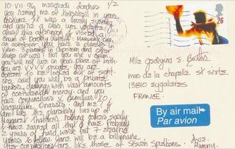 James Jennifer Georgina – Postcard stamped on Wednesday, July 10, 1996