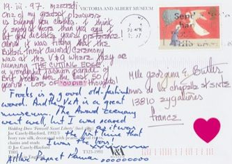 James Jennifer Georgina – Postcard stamped on Wednesday, March 19, 1997