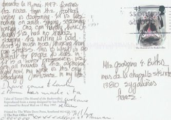 James Jennifer Georgina – Postcard stamped on Monday, May 19, 1997