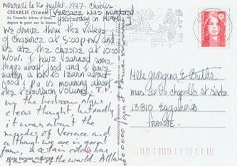 James Jennifer Georgina – Postcard stamped on Wednesday, July 16, 1997