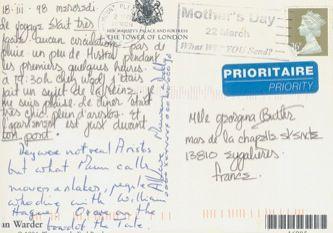 James Jennifer Georgina – Postcard stamped on Wednesday, March 18, 1998