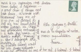 James Jennifer Georgina – Postcard stamped on Tuesday, September 22, 1998