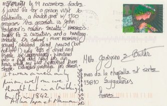 James Jennifer Georgina – Postcard stamped on Thursday, November 19, 1998